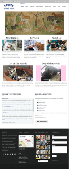 Hummingbird Marketing Services Portfolio: Rainier Veterinary Hospital today