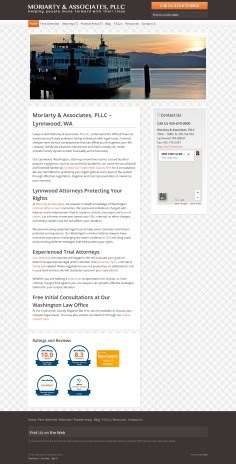 Hummingbird Marketing Services Portfolio: Moriarty & Associates' Website Before