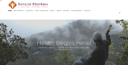 Hummingbird Marketing Services Portfolio: Natural Rhythms Integrative Medicine's Website Before HMS