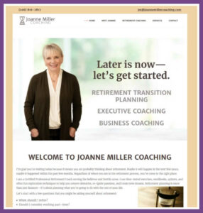 Joanne Miller Coaching, a Website Designed by Hummingbird Marketing Services