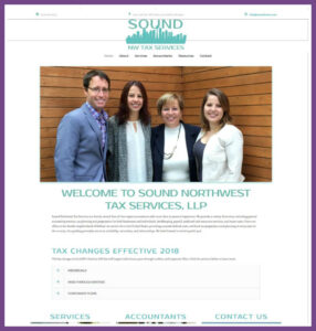 Sound Northwest Tax Services, a Website Designed by Hummingbird Marketing Services